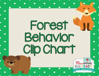 Behavior Clip Chart - Forest Theme