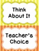 Behavior Clip Chart - Framed Stripes Theme Vertical