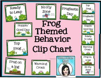 Behavior Clip Chart - Frog Themed