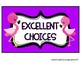 Behavior Clip Chart- Fruit, Flowers, and Flamingos!