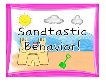 """Behavior Clip Chart """"Fun in the Sun"""""""