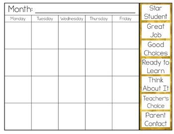 Behavior Clip Chart {Golden Garden}