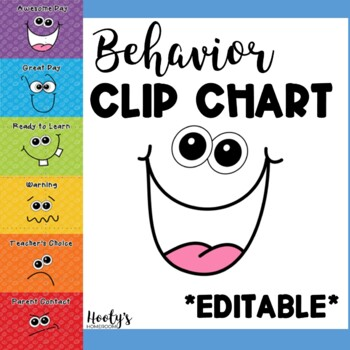 Behavior clip chart goofy faces by hooty s homeroom tpt