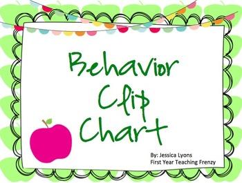Behavior Clip Chart - Green Apples