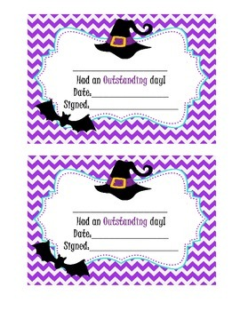 Behavior Clip Chart - Halloween chevron