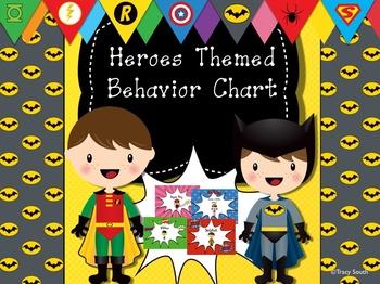 Behavior Clip Chart ~ Heroes Theme