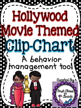 Behavior Clip-Chart (Hollywood/Movie Theme)