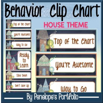 Behavior Clip Chart - House Chalkboard Theme