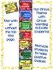 Behavior Clip Chart & Individual Student Chart;Circus Theme-Classroom Mgmt.