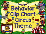 Behavior Clip Chart & Individual Student Chart;Circus Theme-Classroom Mgmt.