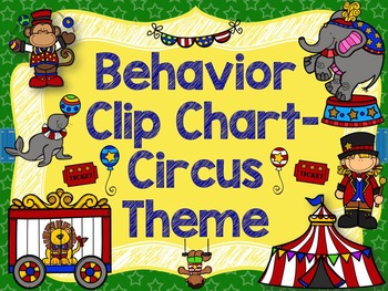 Behavior Clip Chart & Individual Student Chart;Circus Them