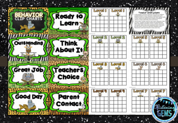 Behavior Clip Chart & Sticker Charts- Jungle Theme