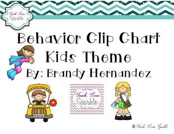 Behavior Clip Chart Kids Theme