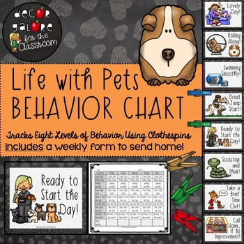 Behavior Clip Chart - Life with Pets Decor