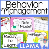 Behavior Clip Chart- Llama Theme