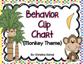 Behavior Clip Chart {Monkey Theme}