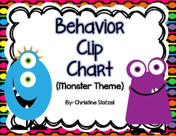 Behavior Clip Chart {Monster Theme}