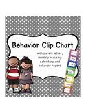 Behavior Clip Chart - Monthly Calendars, Behavior Report & Parent Letter