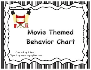 Behavior Clip Chart- Movie Themed