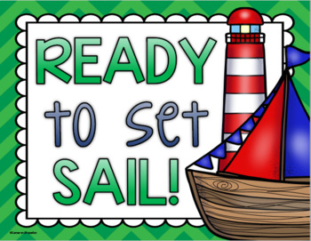 Behavior Clip Chart Nautical Sailing Theme