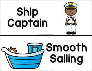 Nautical or Sailing Behavior Clip Chart