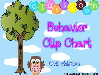 Behavior Clip Chart - OWL THEME!