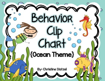 Behavior Clip Chart {Ocean Theme}