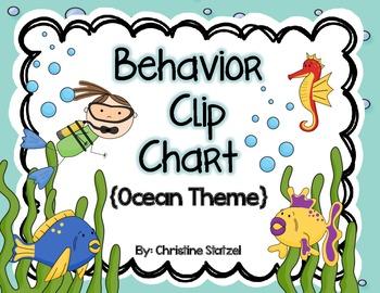 Behavior Clip Chart {Ocean Theme}