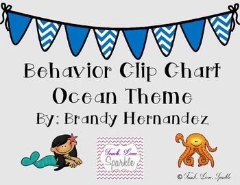 Behavior Clip Chart Ocean Theme