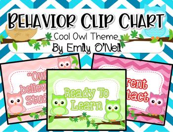 Behavior Clip Chart (Owl Theme)