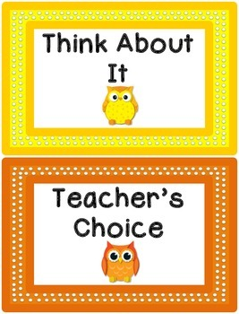 Behavior Clip Chart - Owl Theme