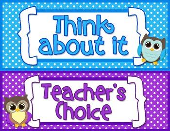 Behavior Clip Chart: Owl Theme