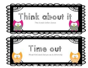 Behavior Clip Chart - Owl Theme