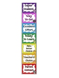 Behavior Clip Chart - Owl Theme w/ Student Card