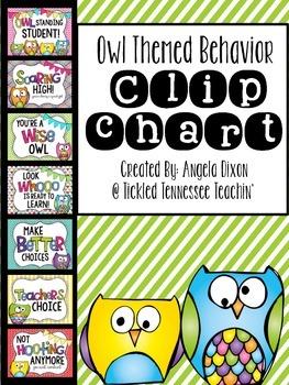 Behavior Clip Chart - Owl Themed