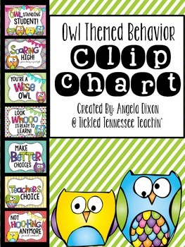 Behavior Clip Chart - Owl Themed