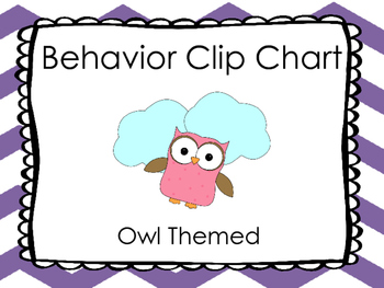 Behavior Clip Chart- Owl Themed