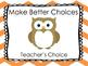 Behavior Clip Chart- Owl Themed