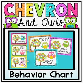 Behavior Clip Chart {Owls and Chevron Decor Theme}