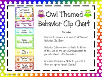 Behavior Clip Chart Pack *Owl Themed