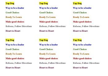 Behavior Clip Chart (Paper Clips) (Peanuts Classroom Behavior Management)