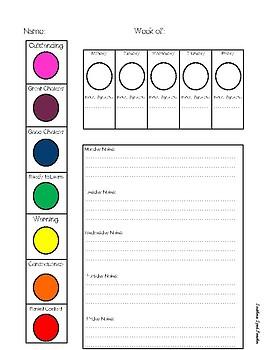 Behavior Clip Chart Parent Communication Companion