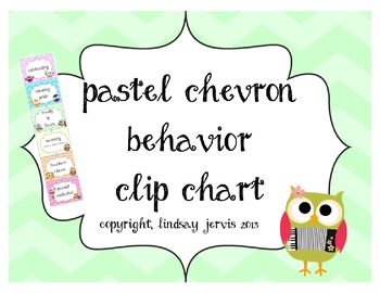 Behavior Clip Chart - Pastel Chevron
