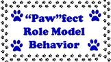 Behavior Clip Chart - Paw Theme