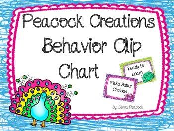Behavior Clip Chart Peacock Theme