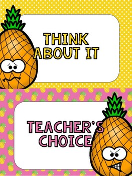 Behavior Clip Chart - Pineapple Paradise