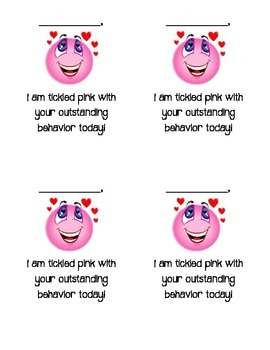 Behavior Clip Chart Pink Reward Note
