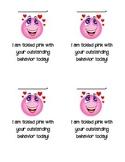 Behavior Clip Chart Pink Reward Note