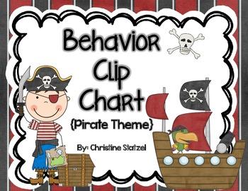 Behavior Clip Chart {Pirate Theme}