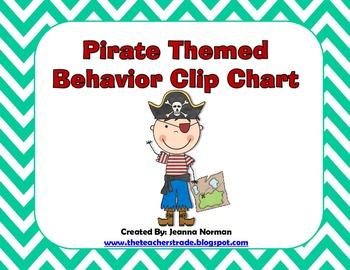 Behavior Clip Chart (Pirate Theme)